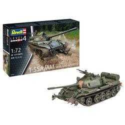 REVELL 03328 1/72 T-55A/AM with KMT-6/EMT-5