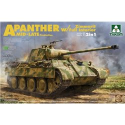 TAKOM 2100 1/35 WWII German medium Tank Sd.Kfz.171/267 Panther A Mid/late production