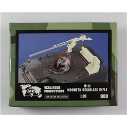 """VERLINDEN 983 1/35 For Pink Panther Land Rover """"Technical"""" M113 Mounted 106 Recoilless Rifle"""