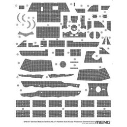 MENG SPS-077 1/35 German Medium Tank Sd.Kfz.171 Panther Ausf.A Early Production Zimmerit Decal