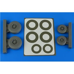 AIRES 4843 1/48 A-26B/C (B-26B/C) Invader wheels & paint masks late for ICM