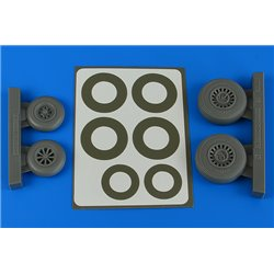 AIRES 4841 1/48 A-26B/C (B-26B/C) Invader wheels & paint masks early for ICM