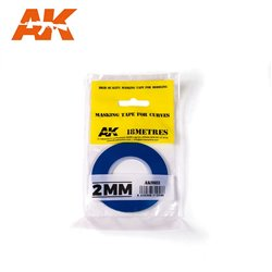 AK INTERACTIVE AK9182 MASKING TAPE FOR CURVES 2MM