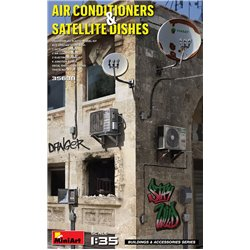 MINIART 35638 1/35 Air Conditioners & Satellite Dishes