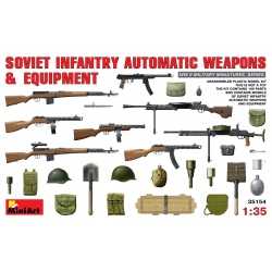 MiniArt 35154 Maquette 1/35 SOVIET INFANTRY AUTAMATIC WEAPONS AND EQUIPMENT