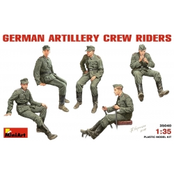 MiniArt 35040 Maquette 1/35 GERMAN ARTILLERY CREW RIDERS