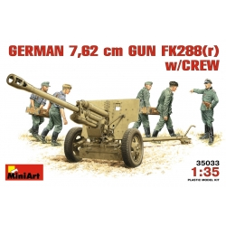 MiniArt 35033 Maquette 1/35 GERMAN 7,62 сm GUN FK288(r) w/CREW