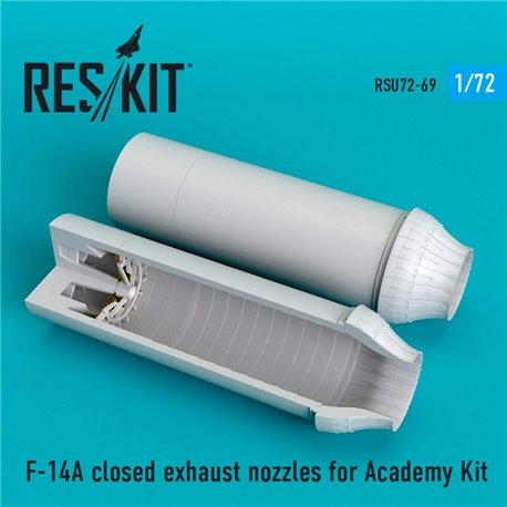 RESKIT RSU72-0069 1/72 F-14A closed exhaust nozzles for Academy Kit