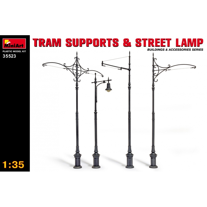Miniart 1//35 Tram Supports and Street Lamp # 35523