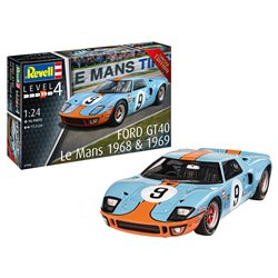 REVELL 07696 1/24 Ford GT40 Le Mans 1968 & 1969