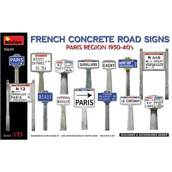 MINIART 35659 1/35 French Concrete Road Signs