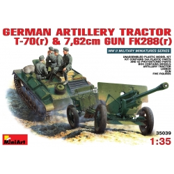 MIniArt 35039 Maquette 1/35 GERMAN ARTILLERY TRACTOR T-70(r) AND 7,62cm FK 288