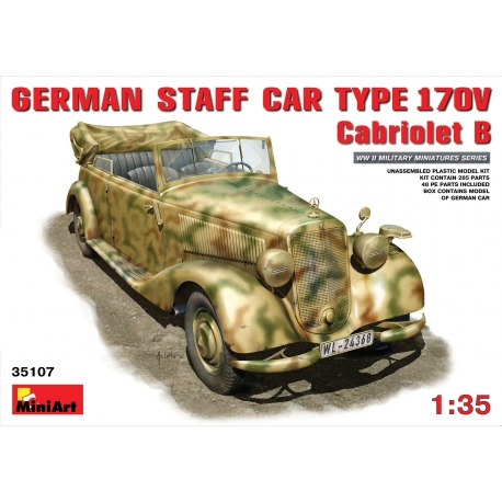 MIniArt 35107 Maquette 1/35 GERMAN CAR TYPE 170V Cabriolet B