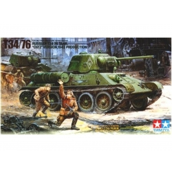 """Tamiya 35149 Maquette 1/35 Russian T34/76 """"ChTZ"""" version, 1943 Production"""