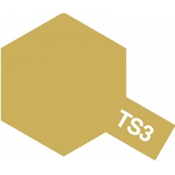 TAMIYA 85003 Peinture Bombe Spray Aérosol TS-3 Jaune sombre / Dark Yellow