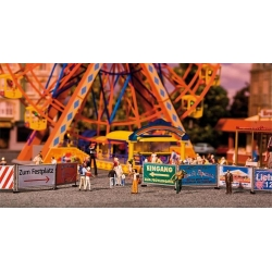 Faller 140358 HO 1/87 Fairground barriers & signs 720mm