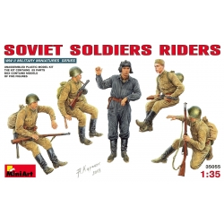 MIniArt 35055 Maquette 1/35 SOVIET SOLDIERS RIDERS