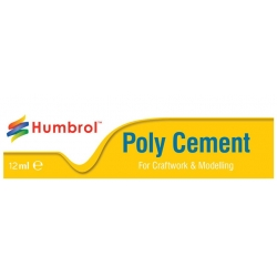 HUMBROL AE4021 POLY CEMENT MEDIUM (TUBE) 12ml- Colle tube