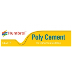 HUMBROL AE4422 POLY CEMENT LARGE (TUBE) 24ml- Colle tube