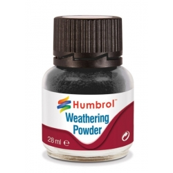 HUMBROL AV0001 Pigments Noir Weathering Powder Black 28ml