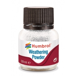 HUMBROL AV0002 Weathering Powder White 28ml - Pigment Blanc