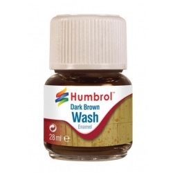 HUMBROL AV0205 Enamel Wash Dark Brown 28ml - Lavis Enamel Brun foncé