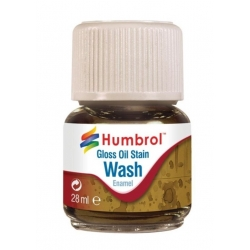 HUMBROL AV0209 Enamel Wash Oil Stain 28ml - Lavis Enamel Traces d'huile