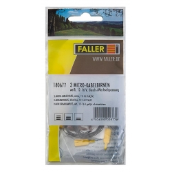Faller 180677 3 Micro-cable bulbs white