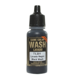 VALLEJO 73.201 Game Color Black Washes 17 ml.