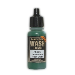 Vallejo 73.205 Game Color Wash Lavis Vert – Green Shade 17ml
