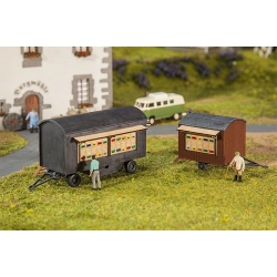 Faller 180385 HO 1/87 2 Chariots à ruches - 2 Beekeeper's trailers
