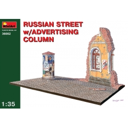 Miniart 36002 1/35 Russian Street with Advertising Column